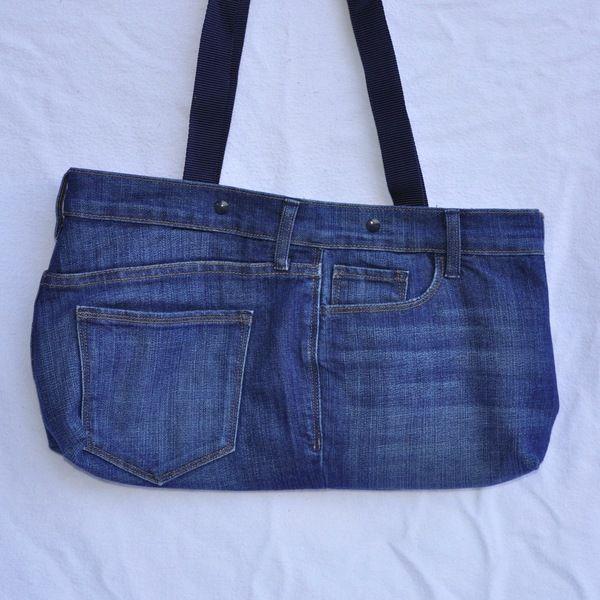 Handtasche - Umhängetasche - recycelte Jeans, quer - ein Designerstück von MrsPy bei DaWanda