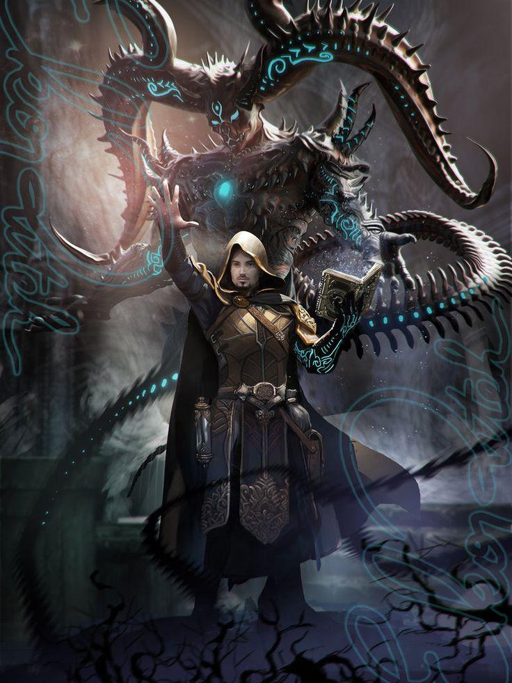 Evil CLERIC N summon DEMON by ekoputeh on DeviantArt