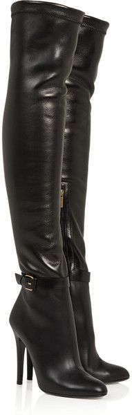 pinterest.com/fra411 #shoes #heels Jimmy Choo ~ Tamba Stretch Leather Over The Knee Boots