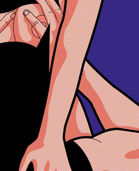 Secret life of heroes - The ordinary life of super Heroes by Greg Guillemin -  Bat & Cat: Making love.