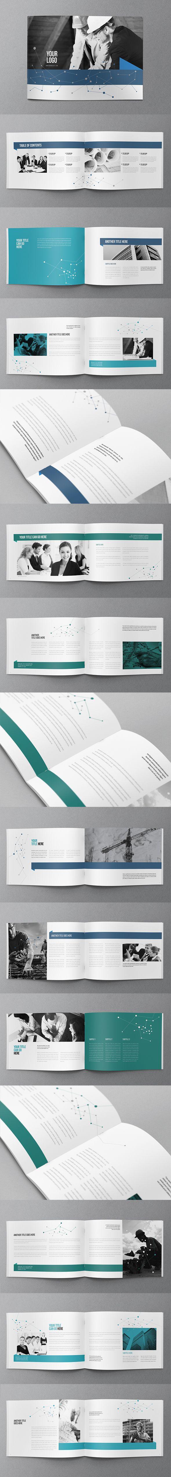 Modern Blue Business Brochure. Download here: graphicriver.net/... #brochure #de...