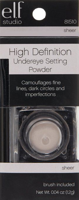 e.l.f. HD Under-eye Concealer Setting Powder in sheer. Drug store gold! Will not crease, easy to use and works on most complexions.Price range is from around $3.00 to $6.00 depending on where you buy it from. A Beauty Must have. Enhance but do not cover your beauty!