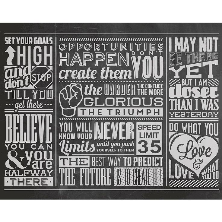 118 in x 98 in chalk quotes wall mural black - Diy Entfernbarer Backsplash