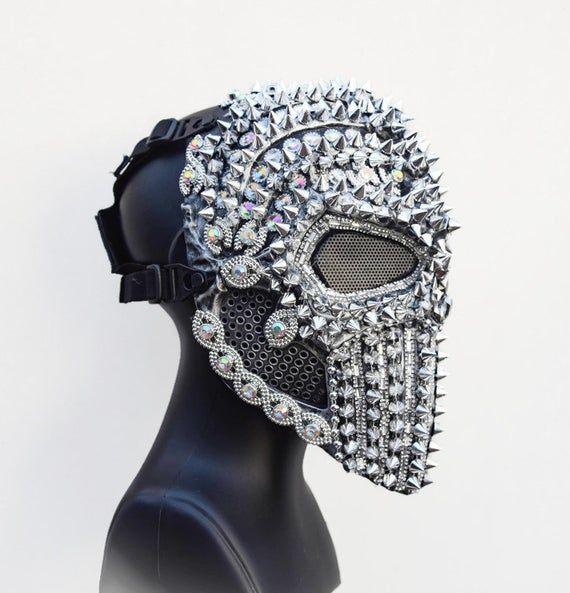 Men/'s Steampunk Skeletal Spike Half Masquerade Mask Custome Cosplay