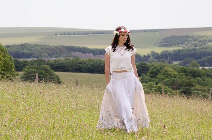 Sister Organics boho eco-chic wedding dress // The Natural Wedding Company