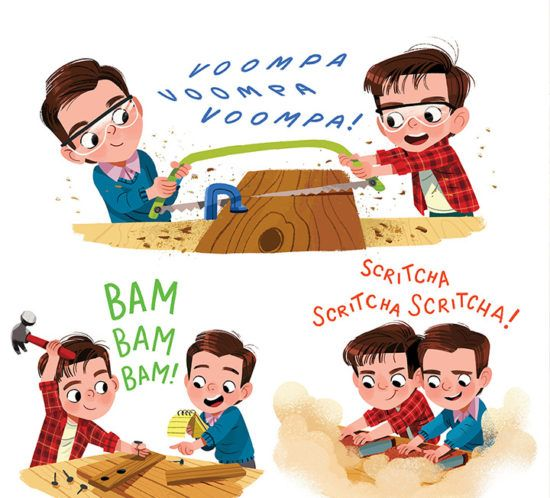 Builder Brothers Big Plans Kim Smith In 2020 Childrens Book Characters Picture Books Illustration Character Illustration