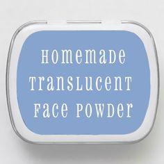 How to make homemade translucent powder