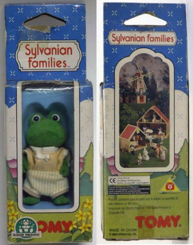 SYLVANIAN-FAMILIES-ALGY-FROG-BULLRUSH-FAMILY-TOMY-1992