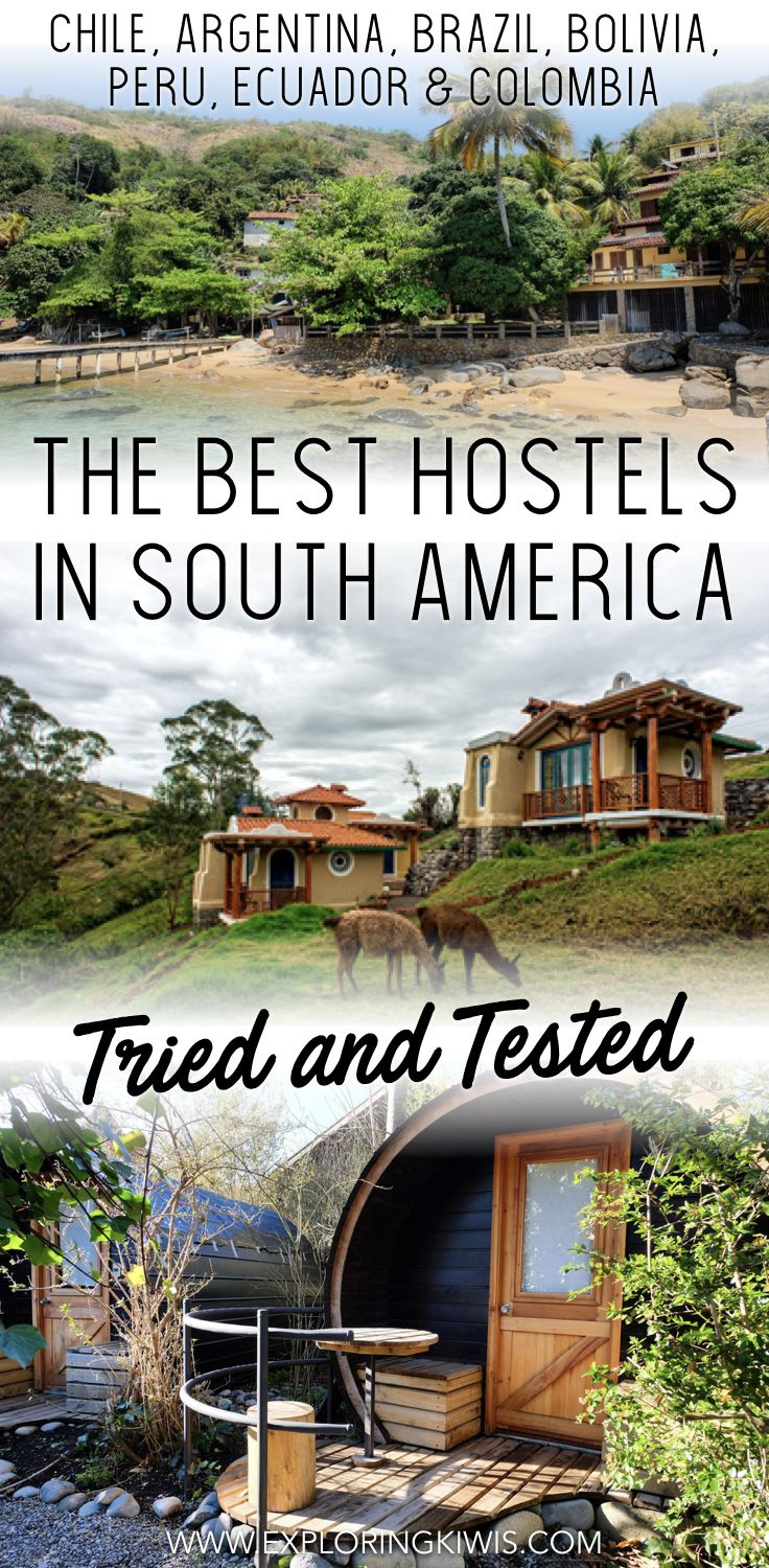 Find the best hostels in South America.  Memorable backpackers in Chile, Argentina, Brazil, Bolivia, Peru, Ecuador and Colombia that offer comfort, friendship and value for money.  Check out our collection of the very best accommodations on the continent from 6 months of travel... via @Exploring Kiwis