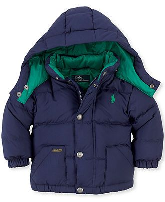 Ralph Lauren Baby Jacket, Baby Boys Hooded Jacket - Kids Baby Boy (0-24 months) - Macy's