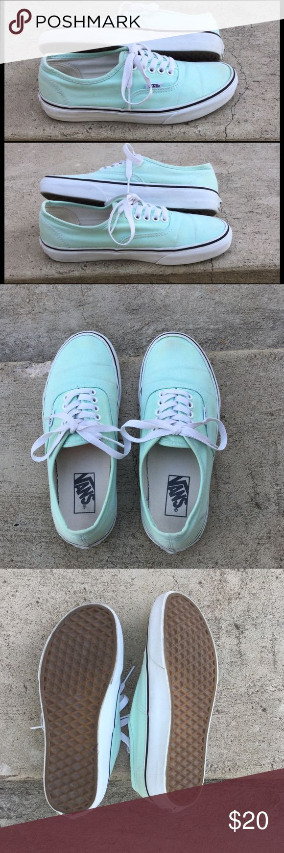 "Vans Sneakers ""Tiffany Blue"", aqua blue-green color. Well-loved but in great condition, and very clean. They do not come in the original box. *No trades. Vans Shoes Sneakers"