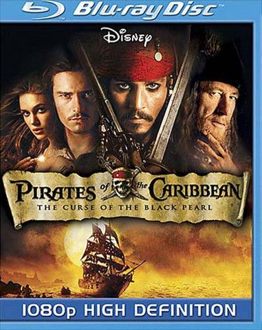Pirates of the Caribbean The Curse of the Black Pearl (Disney) (Blu-ray) (USED) BLU-RAY Movie