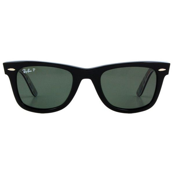 Ray-Ban Original Wayfarer RB2140 Polarized ($200) ❤ liked on Polyvore featuring accessories, eyewear, sunglasses, glasses, oculos, jewelry, ray ban glasses, ray-ban, ray ban eyewear en polarized wayfarer sunglasses