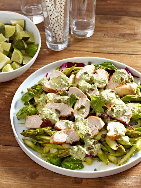 Toll für den Osterbrunch: Hähnchen-Carpaccio mit Salsa verde