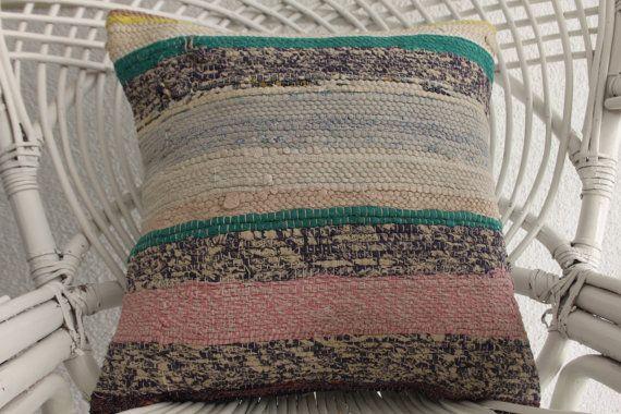 decorative kilim pillow cover turkish kilim rug pillow cover multicolor pillowcase soft cotton pillow handwoven pillow cover 1164