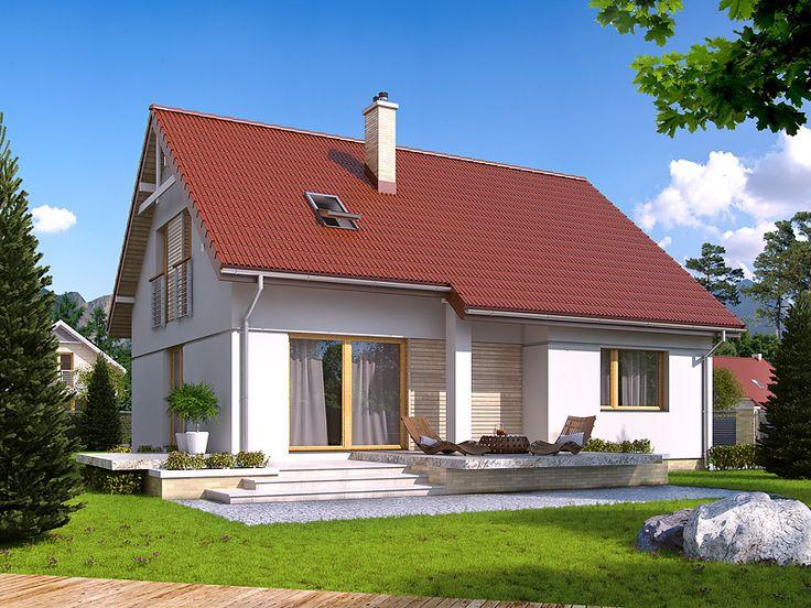 Projekt IBIS 2 (136,43 m2) to nowa wersja projektu Ibis. Do dyspozycji mieszkańców znajduje się w nim 1 sypialnia oraz gabinet na parterze oraz trzy sypialnie na poddaszu, z których jedna posiada własną garderobę oraz łazienkę. Pełna prezentacja projektu znajduje się na stronie: http://www.domywstylu.pl/projekt-domu-ibis_2.php. #ibis #projekty #domy #projekt #domywstylu #mtmstyl #projekty gotowe #projekty domów #domy z poddaszem #home #design #style