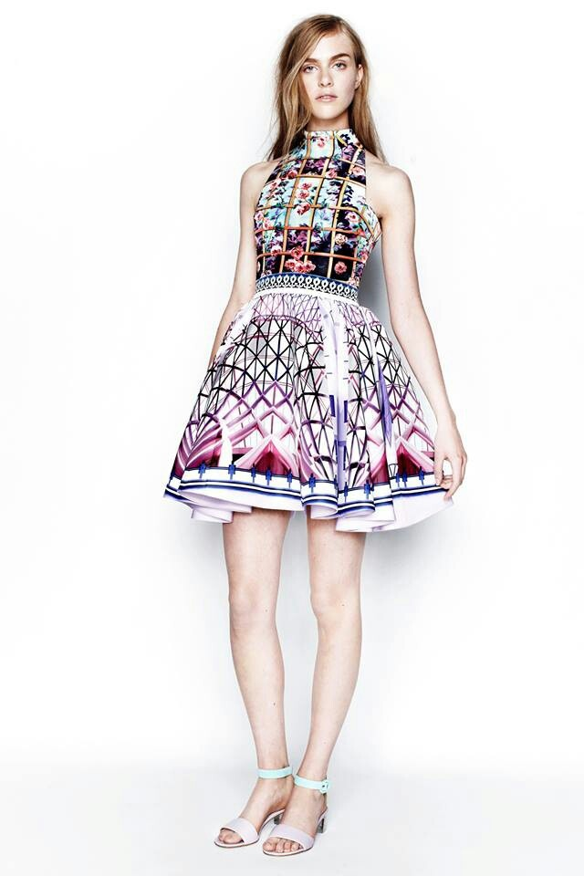 mary katrantzou 2014 her dresses remind me of Dali in a way