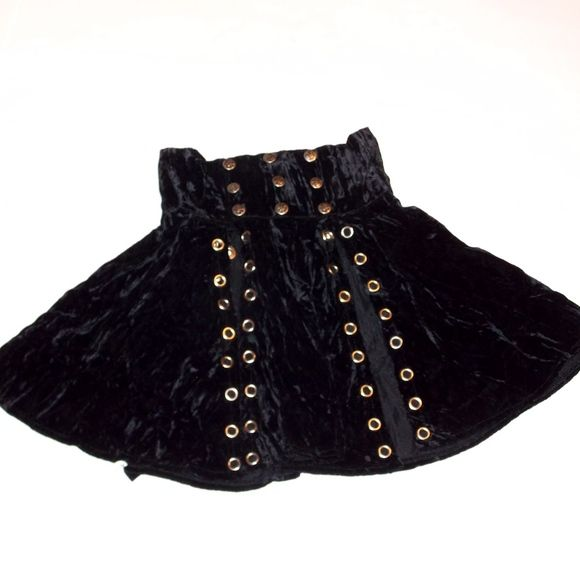 "LIP SERVICE Crushed F**k'n Velvet ""Gladiator"" skirt #VLEYGLAD"