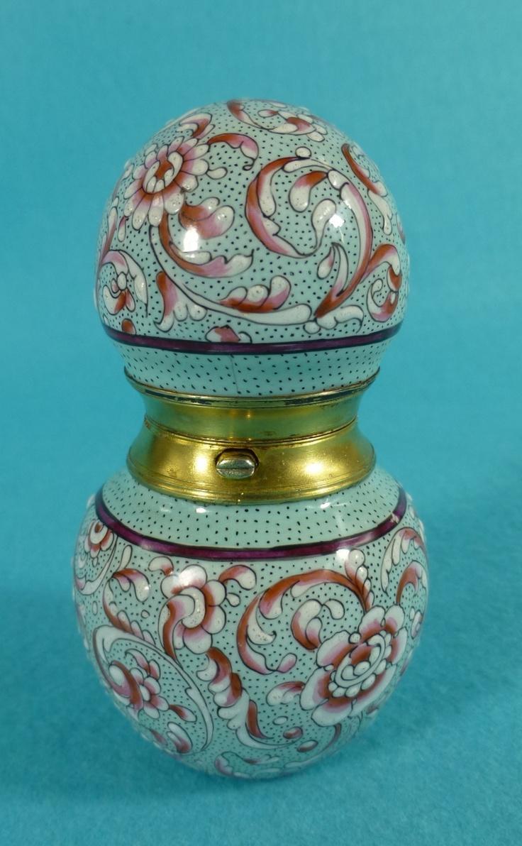 Stunning RARE Austrian Sterling Silver Gilt Enamel Perfume Scent Bottle C1885 | eBay