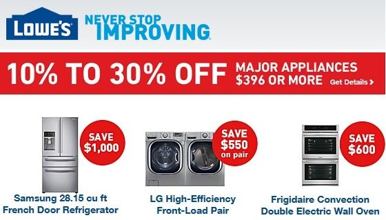lowes memorial day appliance sale
