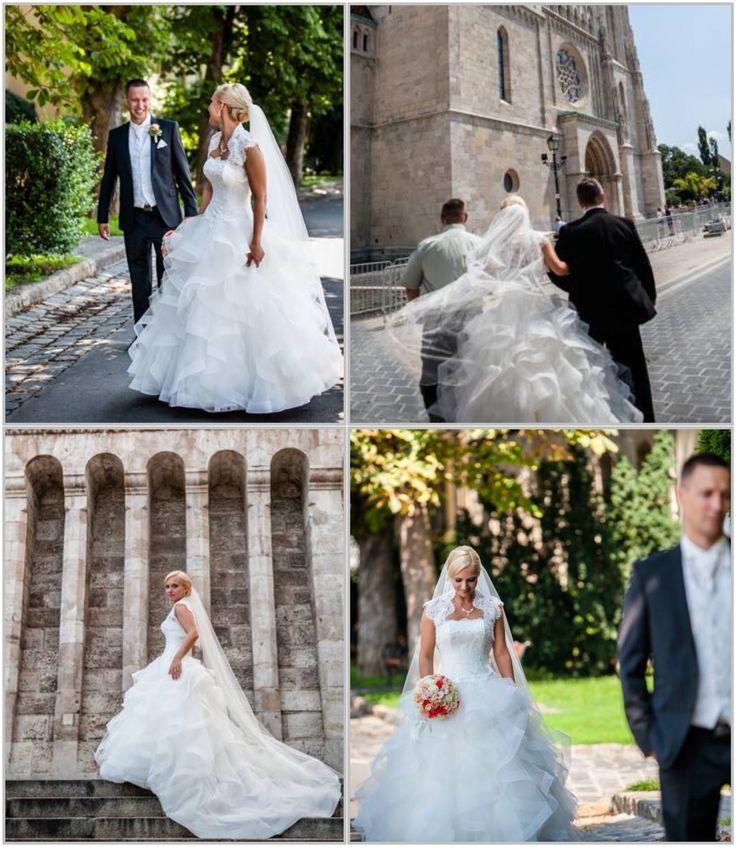 Helga bride by La Mariée Budapest bridal #Leante dress by Pronovias http://lamariee.hu/eskuvoi-ruha/pronovias-2015/leante