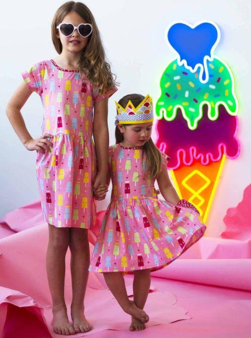 Long Weekend Strawberry Princess Ice Cream Dress