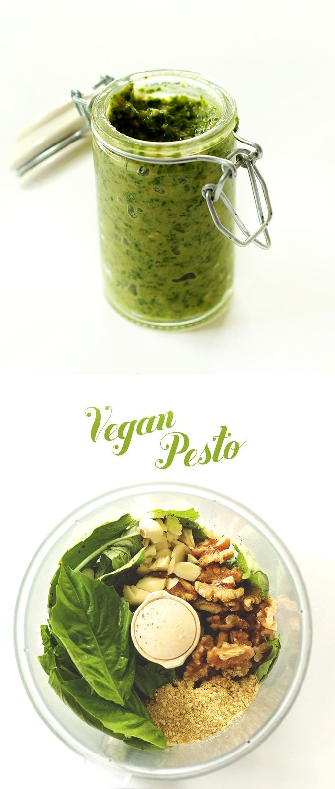 Easy Vegan Pesto Recipe! So simple, healthy and flavorful #vegan