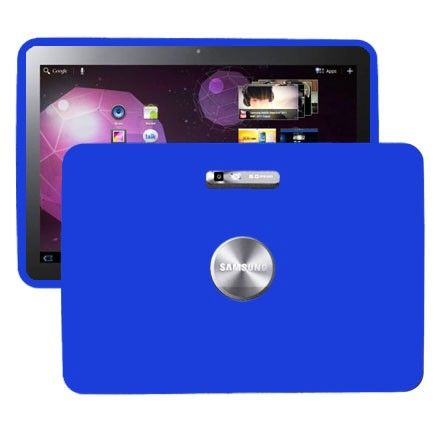 Soft Shell (Blå) Samsung Galaxy Tab 10.1 P7100 Deksel