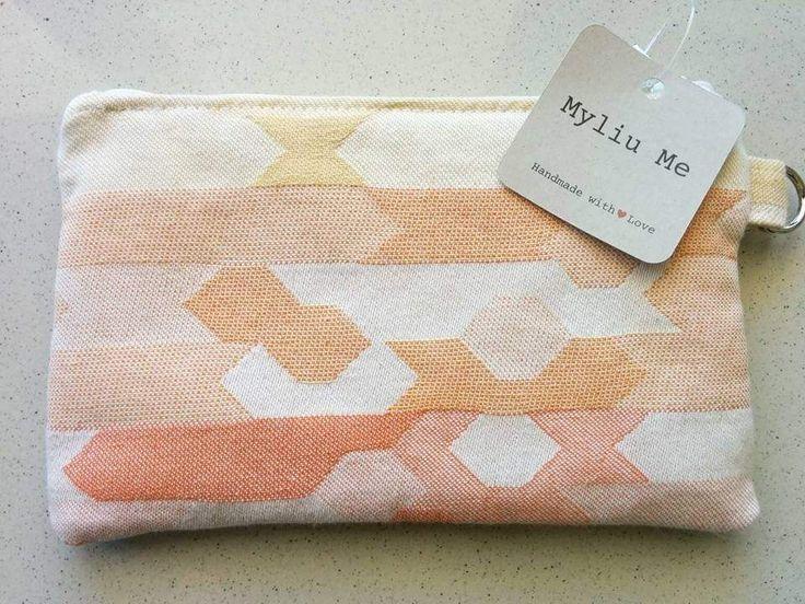 Zippered pouch featuring Ankalia Nevaeh wrap scrap