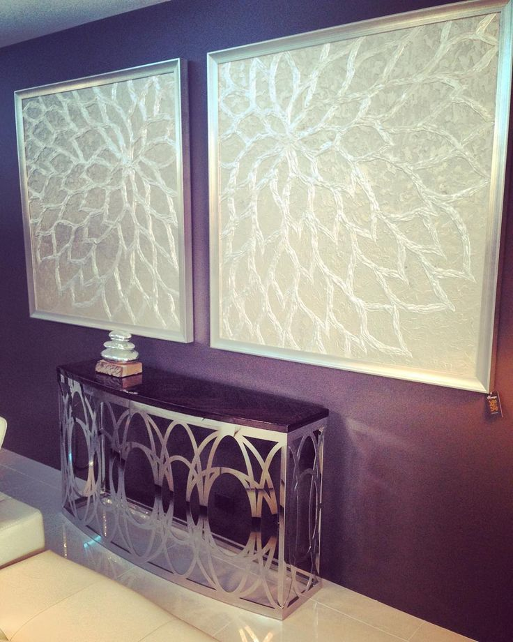 Such a modern classic combination.   Luna Console and our Double Hollyshock hand painted artwork.  www.sovereigninteriors.com.au