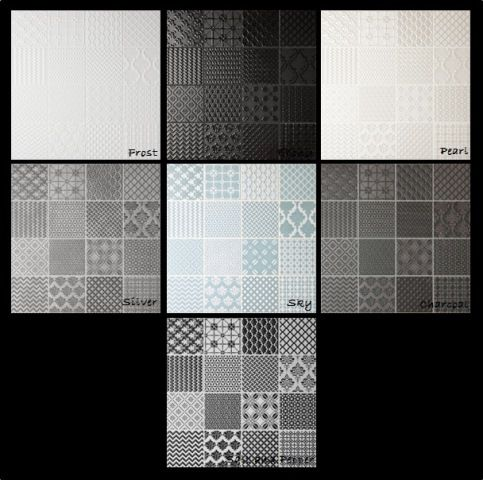 Patchwork 300mm x 300mm Rectified all sides Suitable for walls