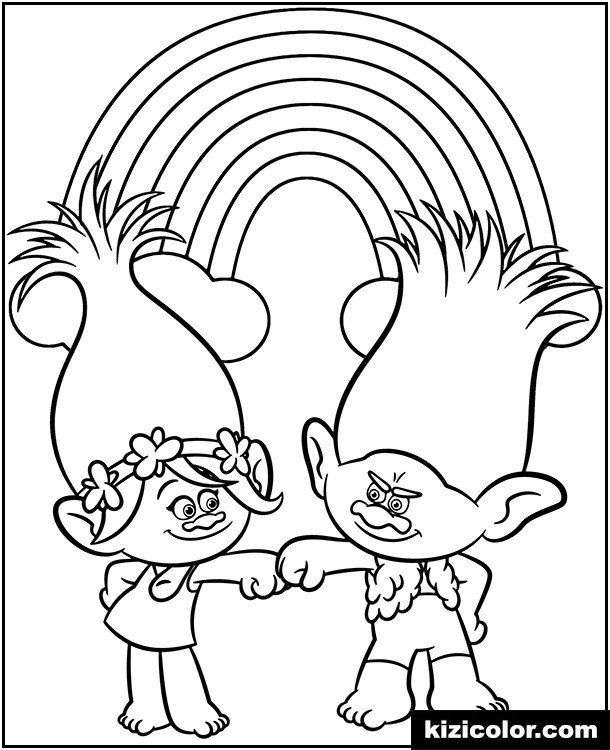 - Branch Trolls Coloring Pages 🎨 Poppy And Branch Printable Coloring Page  Trolls Kizi In 2020 Poppy Coloring Page, Dinosaur Coloring Pages, Coloring  Pages