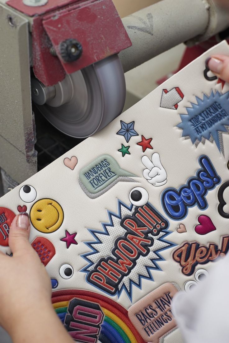Creating the #SS15 #runway collection #AnyaHindmarch