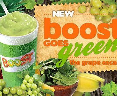 Boost - Grape Escape  green grapes, spinach, pineapple, banana, coconut water & ice
