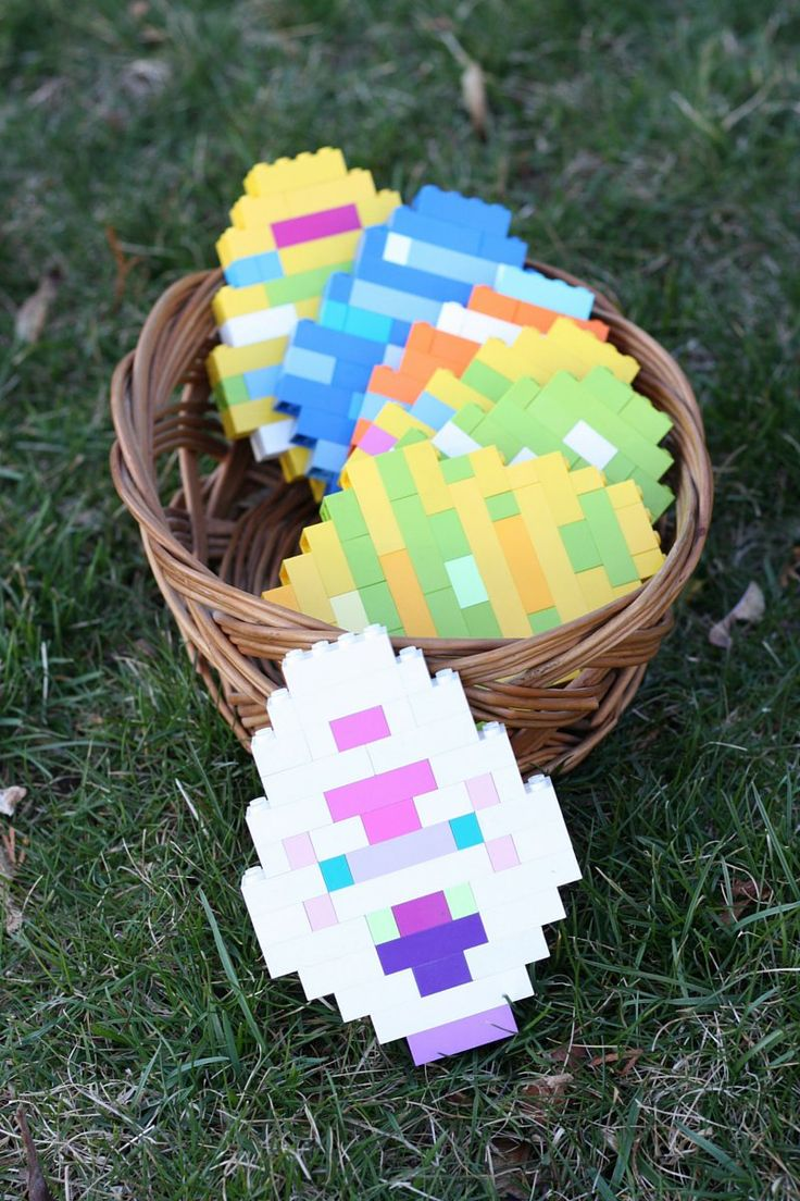 Easy LEGO Easter Activity Building Easter Eggs