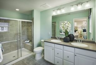 Full Bathroom Slate Tile Floors Design Ideas & Pictures   Zillow Digs
