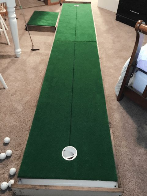I made a 12ft indoor practice putting green. Check out the ...