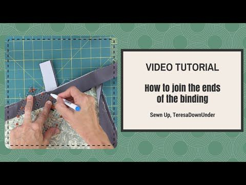 Video tutorial: How to join the binding ends of your quilt - YouTube
