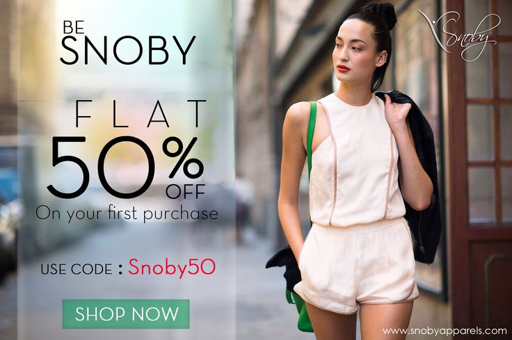 So, Guys and Girls... Good News for you all !  The wait is over, Your will be favourite brand Snoby is launching on 13th Of October with your love and wishes. Avail Flat 50% off on all the products when you shop for the first time with us. Hurry Up and Shop on. www.snobyapparels.com -Love Snoby