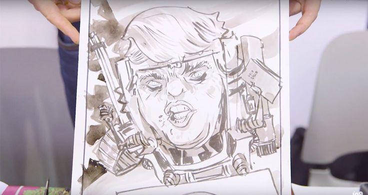 Ver Dibujantes de cómic transforman a Donald Trump en supervillano
