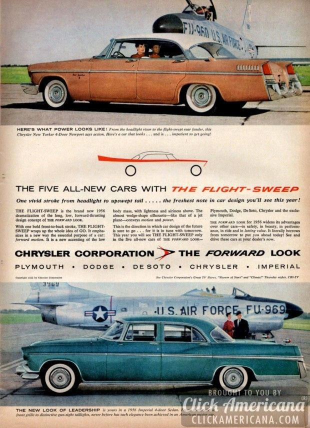 Chrysler cars for 1956: The forward look with Flight-Sweep