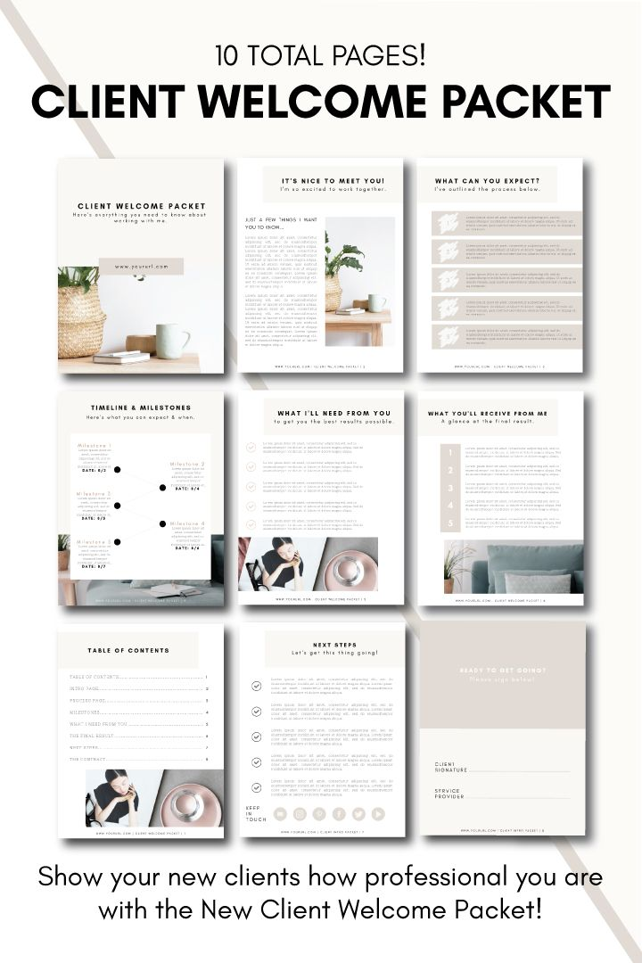 Client Welcome Packet Tiny Pine Creative In 2020 Welcome Packet Workbook Design Onboarding