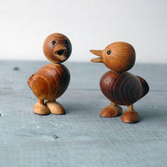 Two Teak Ducklings by SwitchbladeandCookie on Etsy