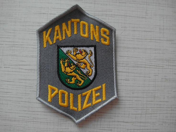 Swiss Police Patch Police Cantonale Thurgau Kantons Polizei Thurgau Switzerland   | eBay