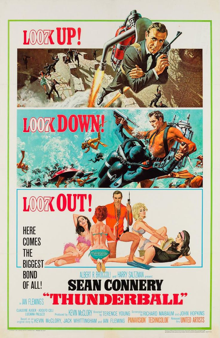 American Thunderball Film Poster by McGinnis & McCarthy, 1965 1