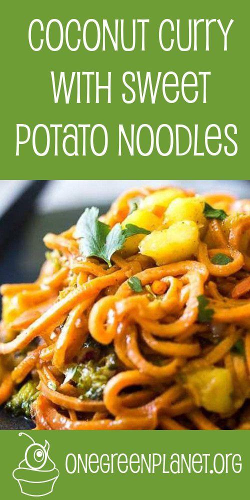 Coconut Curry With Sweet Potato Noodles [Vegan] @FoodFaithFit…