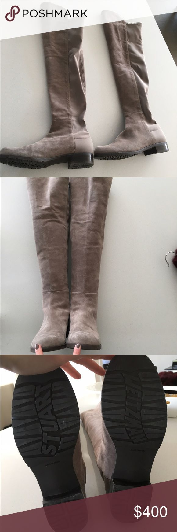 Stuart Weitzman 5050 Boot Over the knee, fits size 7.5-8. Taupe color. Great condition. Worn once. Offers accepted. Stuart Weitzman Shoes Over the Knee Boots