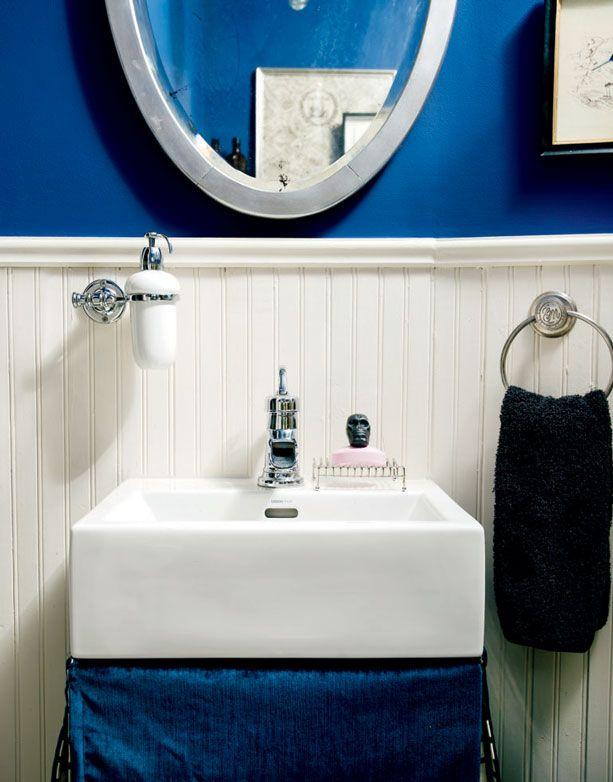 Mini salle de bains, couleurs audacieuses   Décormag