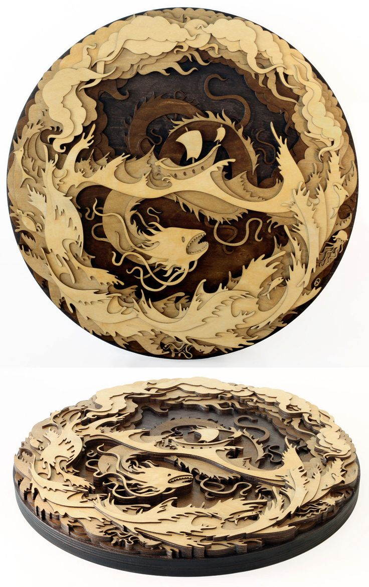 New Laser-Cut Wood Illustrations by Martin Tomsky | Colossal