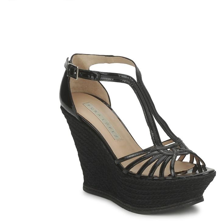 Sandalias Pura Lopez ISELDA Negro - Entrega gratuita con Spartoo.es ! - Zapatos  Mujer